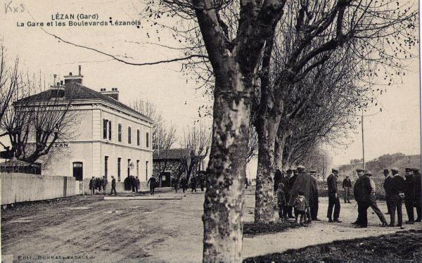 la gare de lézan début 1900